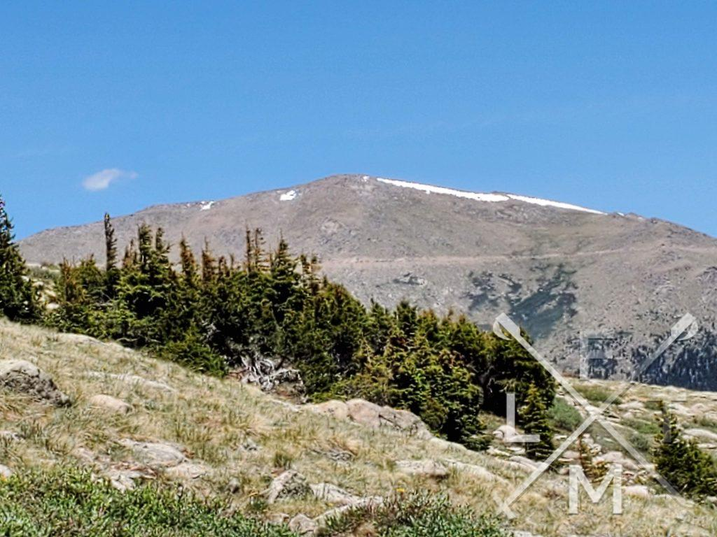 Mt Evans from the declared end of the Alltrails map.