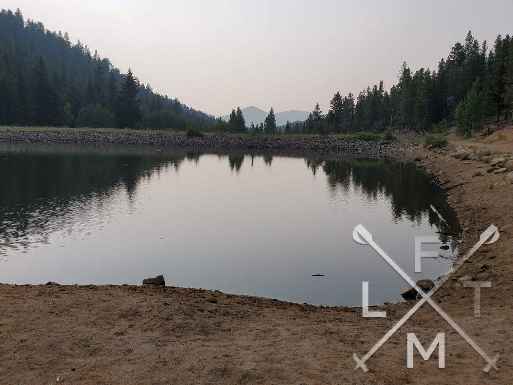 The Dude's fishing hole sits a half mile away from the trailhead.