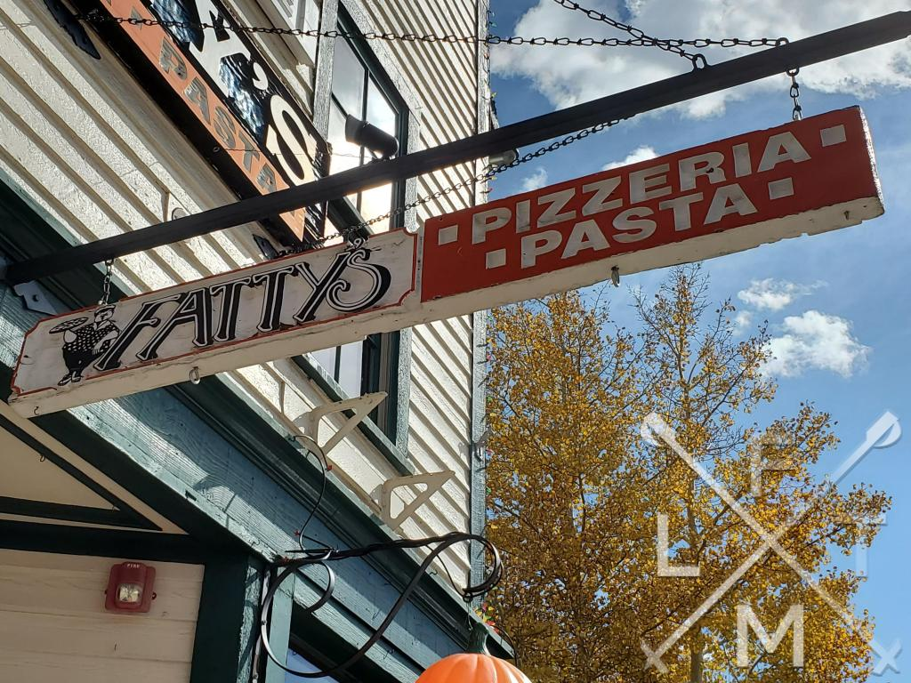 The sign for Fatty's Pizzeria and pasta.