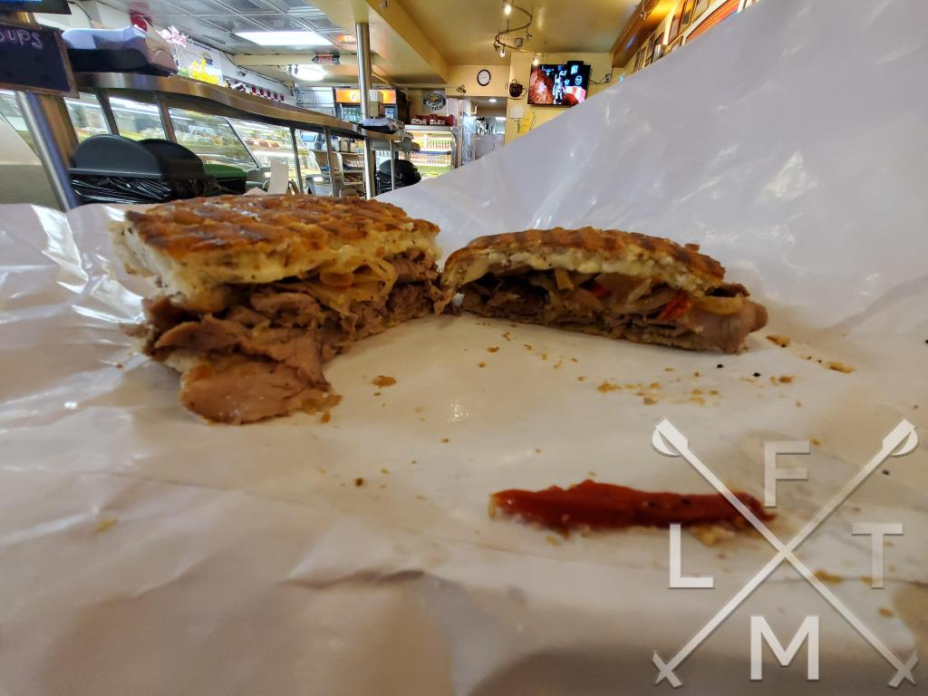The Philly Cheesesteak as a flat sandwich and not an open face