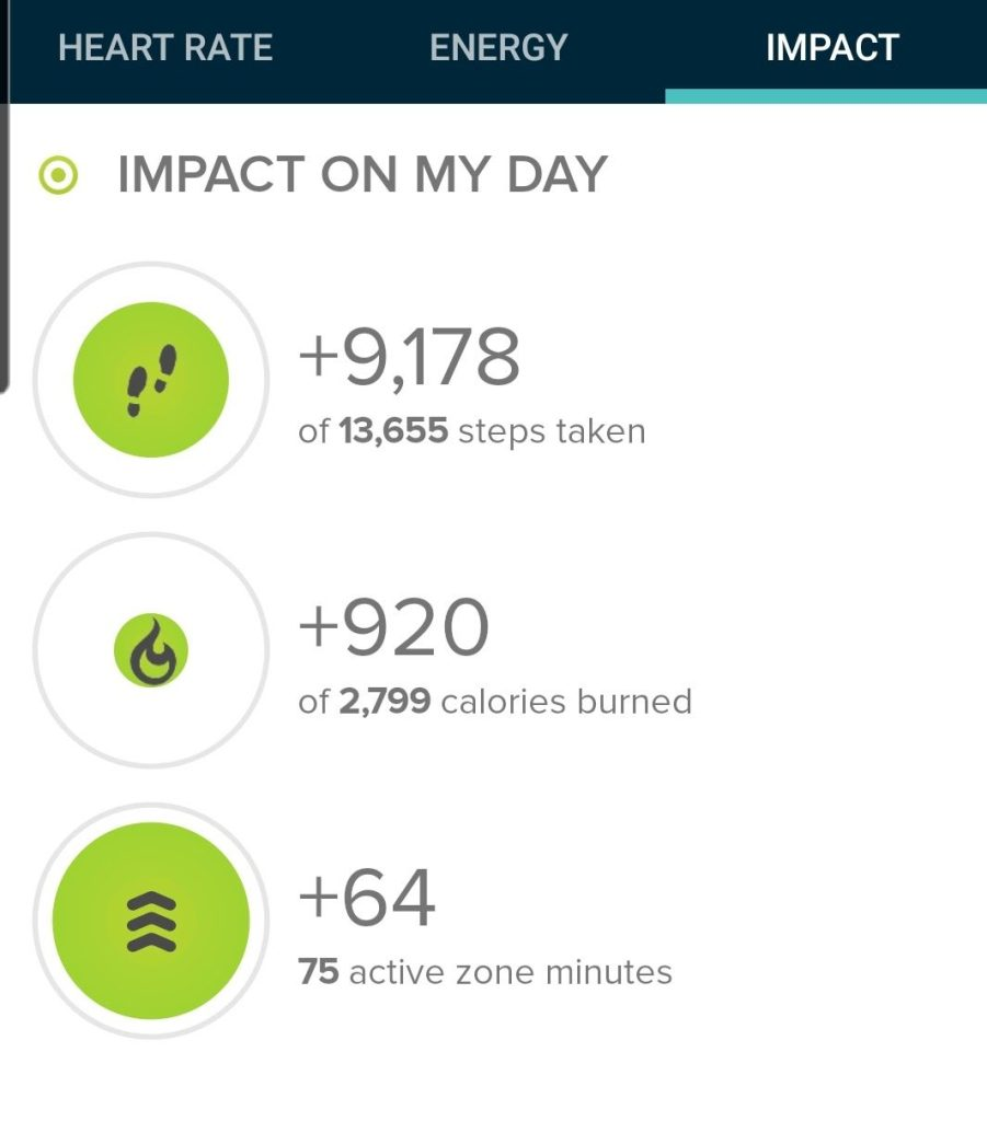 My step count today after taking the loop 3 times was 9,178 steps