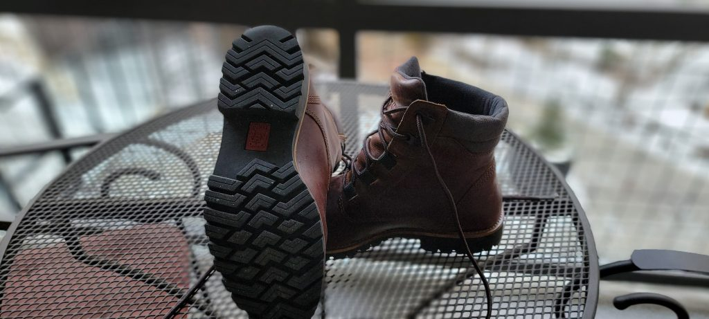 The tread on the outsole of the Kodiak Moncton boots