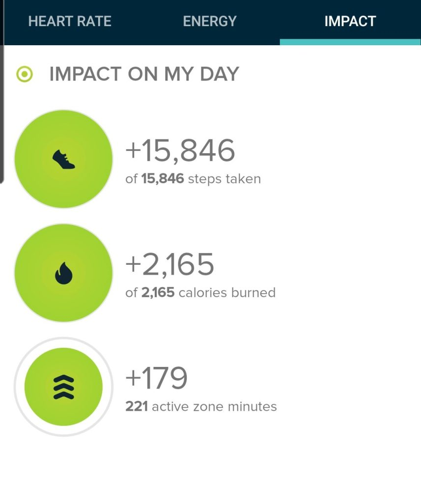 The step count for my hike to Mt. Esther via Crowe Gulch was 15,846 steps.