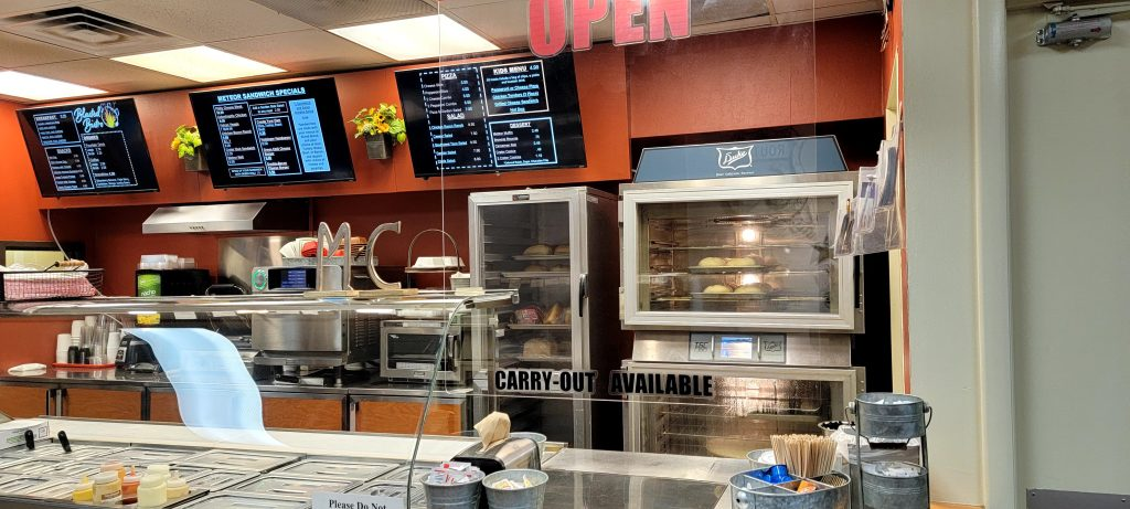 The main counter at the Blasted Bistro located in the Meteor Crater National Landmark complex.